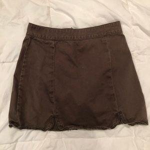 Forever 21 Army Green Denim Mini Skirt
